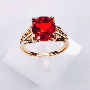 Jewelry - New Red Ruby Gold filled Garnet ring